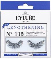 Eylure Lengthening 115 - Мигли от естествен косъм в комплект с лепило -