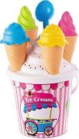 Комплект за игра с пясък - Сладоледи - топка
