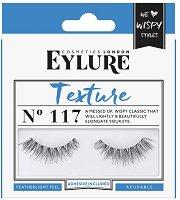Eylure Texture 117 - Мигли от естествен косъм в комплект с лепило -