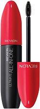 Revlon Ultimate All-In-One Waterproof Mascara - Водоустойчива спирала за мигли с 5 действия - душ гел