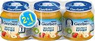 """Nestle Gerber - Пюре от ябълки и круши - Бурканчета от 125 g от серията """"Моето първо"""" 2 + 1 подарък -"""