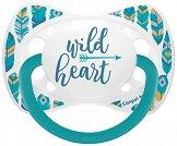 """Силиконова залъгалка със симетрична форма - Wild Heart - За бебета 0 до 6 месеца от серията """"Wild Nature"""" -"""