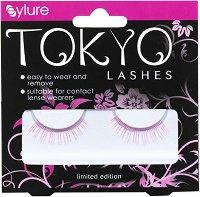 Eylure Tokyo Yoshe - Розови изкуствени мигли в комплект с лепило -