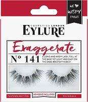 Eylure Exaggerate 141 - Мигли от естествен косъм в комплект с лепило -