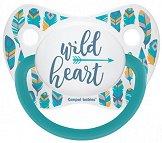 """Силиконова залъгалка с анатомична форма - Wild Heart - За бебета над 18 месеца от серията """"Wild Nature"""" -"""