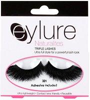 Eylure Naturalites 301 - Изкуствени мигли в комплект с лепило -