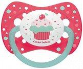 """Силиконова залъгалка със симетрична форма - За бебета от 0 до 6 месеца от серията """"Cupcake"""" -"""