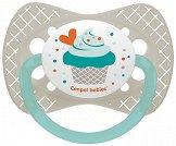 """Силиконова залъгалка със симетрична форма - За бебета от 6 до 18 месеца """"Cupcake"""" -"""