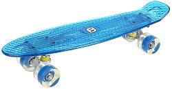 Скейтборд с LED светлини - С пластмасова дъска с размери 56 х 15.5 cm -
