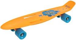 Скейтборд - С пластмасова дъска с размери 56 х 14.5 cm -