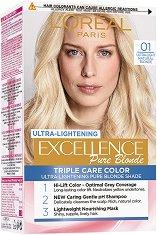L'Oreal Excellence Pure Blonde Ultra-Lightening - Изрусител за коса - лак