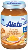 Alete - Био пюре от моркови, картофи и говеждо месо - Бурканче от 190 g за бебета над 4 месеца - пюре