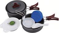 Туристически съдове за готвене - Hard-Anodized Camp Kit - Комплект за 2 човека