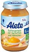 Alete - Био пюре от зеленчуци в масло с картофи и пилешко месо - Бурканче от 190 g за бебета над 6 месеца - пюре