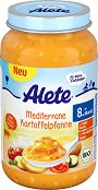 Alete - Био пюре от средиземноморска картофена яхния - Бурканче от 220 g за бебета над 8 месеца -