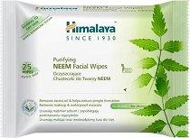Himalaya Purifying Neem Facial Wipes - Мокри кърпички за лице с екстракт от нийм в опаковка от 25 броя -