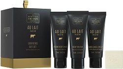 """Scottish Fine Soaps Au Lait Noir Luxurious Gift Set - Луксозен подаръчен комплект с козметика за тяло от серията """"Au Lait Noir"""" -"""