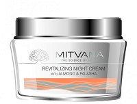 Mitvana Revitalising Night Cream - Ревитализиращ нощен крем за лице с бадем и бутеа -
