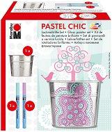 Маркери с гланцов ефект - Pastel Chic - Комплект за декориране с метална кофичка