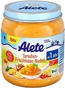 Alete - Био пюре от домати с прясно сирене - Бурканче от 250 g за бебета над 12 месеца -