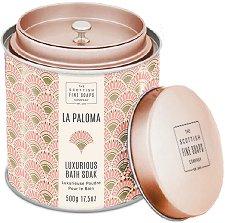 """Scottish Fine Soaps La Paloma Luxurious Bath Soak - Луксозна пудра за вана от серията """"La Paloma"""" - лосион"""