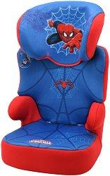 """Детско столче за кола - Befix - От серията """"Спайдърмен"""" за деца от 15 до 36 kg - чанта"""