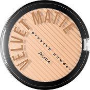 Aura Velvet Matte Pressed Powder - Компактна пудра за лице с матиращ ефект - продукт