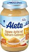 Alete - Био пълнозърнеста каша с банан и ябълка - Бурканче от 190 g за бебета над 6 месеца -