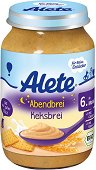 "Alete - Био каша ""Лека нощ"" с бисквити - Бурканче от 190 g за бебета над 6 месеца -"