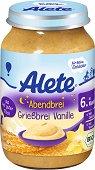 """Alete - Био каша """"Лека нощ"""" с грис и ванилия - Бурканче от 190 g за бебета над 6 месеца -"""
