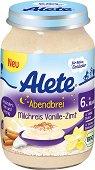 """Alete - Био каша """"Лека нощ"""" оризов пудинг с ванилия и канела - Бурканче от 190 g за бебета над 6 месеца - продукт"""
