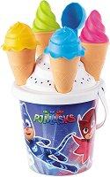 """Комплект за игра с пясък - Сладоледи - От серията """"PJ Masks"""" - играчка"""