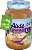 "Alete - Био каша ""Лека нощ"" с банан и шоколад - Бурканче от 190 g за бебета над 8 месеца -"
