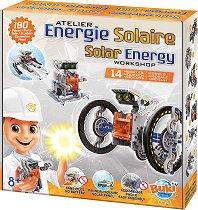 """Слънчева енергия - 14 в 1 - Образователен конструктор от серията """"Construction"""" - образователен комплект"""