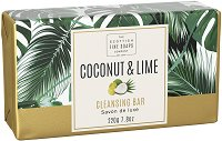 "Scottish Fine Soaps Coconut & Lime Cleansing Bar - Луксозен бар сапун от серията ""Coconut & Lime"" - сапун"