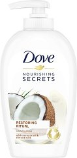 """Dove Nourishing Secrets Restoring Ritual Hand Wash - Течен сапун с кокосово масло и бадемово мляко от серията """"Nourishing Secrets"""" - крем"""