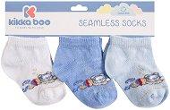 Бебешки памучни чорапи - Diver Blue - Комплект от 3 чифта - продукт