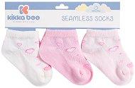 Бебешки памучни чорапи - Hearts Pink - Комплект от 3 чифта -