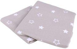 Бебешко памучно плетено одеяло - Stars - Размер 75 x 100 cm -