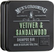 "Scottish Fine Soaps Men's Grooming Vetiver & Sandalwood Shampoo Bar - Мъжки сапун за коса от серията ""Men's Grooming"" - крем"