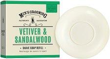 Scottish Fine Soaps Men's Grooming Vetiver & Sandalwood Shave Soap Refill - продукт