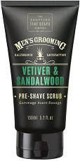 "Scottish Fine Soaps Men's Grooming Vetiver & Sandalwood Pre-Shave Scrub - Скраб за преди бръснене за мъже от серията ""Men's Grooming"" - крем"