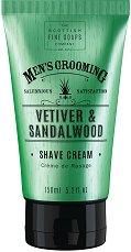 "Scottish Fine Soaps Men's Grooming Vetiver & Sandalwood Shave Cream - Крем за бръснене от серията ""Men's Grooming"" - крем"