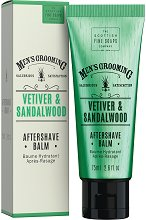 "Scottish Fine Soaps Men's Grooming Vetiver & Sandalwood Aftershave Balm - Балсам за след бръснене от серията ""Men's Grooming"" - крем"