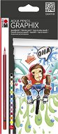 """Акварелни моливи - Funky Monkey - Комплект от 12 цвята от серията """"Graphix"""""""