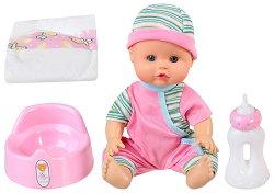 Пишкащо бебе - Биби - Интерактивна играчка със звукови ефекти -