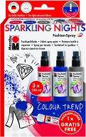 Спрей за текстил - Sparkling Nights - Комплект от 3 цвята и контур
