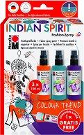 Спрей за текстил - Indian Spirit - Комплект от 3 цвята и контур