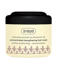 Ziaja Cashmere Proteins & Amaranth Oil Concentrated Smoothing Hair Mask - Заздравяваща маска за коса с протеин от кашмир и масло от амарант -