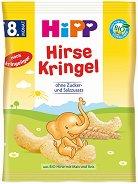 HiPP - Био зърнен снакс с просо - Опаковка от 30 g за бебета над 8 месеца - пюре